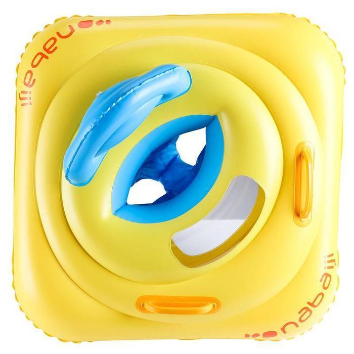 Zwemband baby geel met venstertje en handgrepen 7-11 kg
