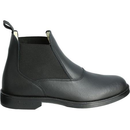 Classic Adult/Kids' Leather Horseback Riding Jodhpur Boots - Black