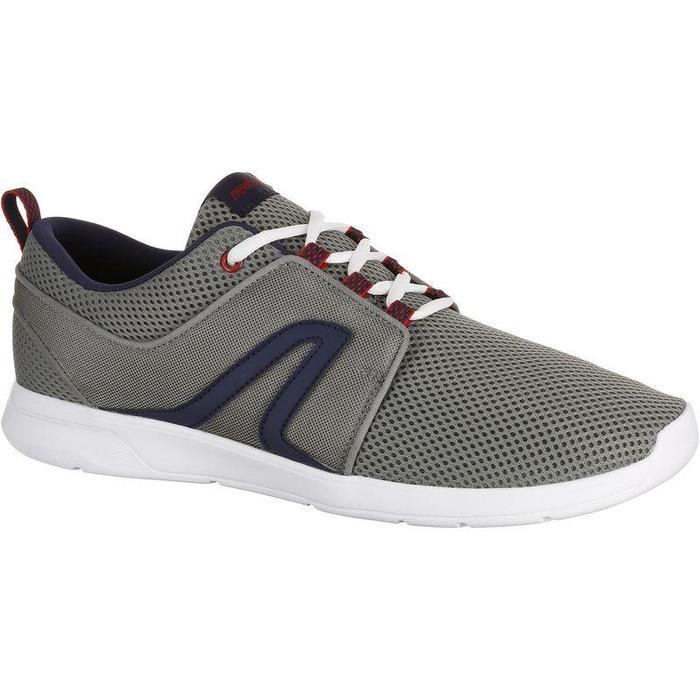 Zapatillas Caminar Soft 140 Hombre Mesh Gris/Azul