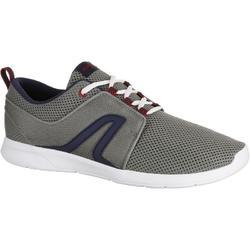 男士網眼健身步行運動鞋 Soft 140 - 黑色/白色