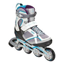 Fitness skates Fit 5 voor dames grijs/blauw