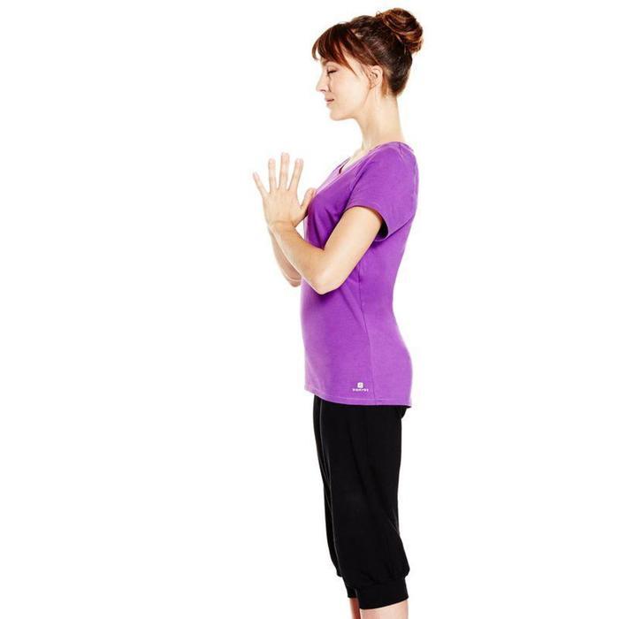 Corsario Yoga algodón procedente de la agricultura biológica mujer negro