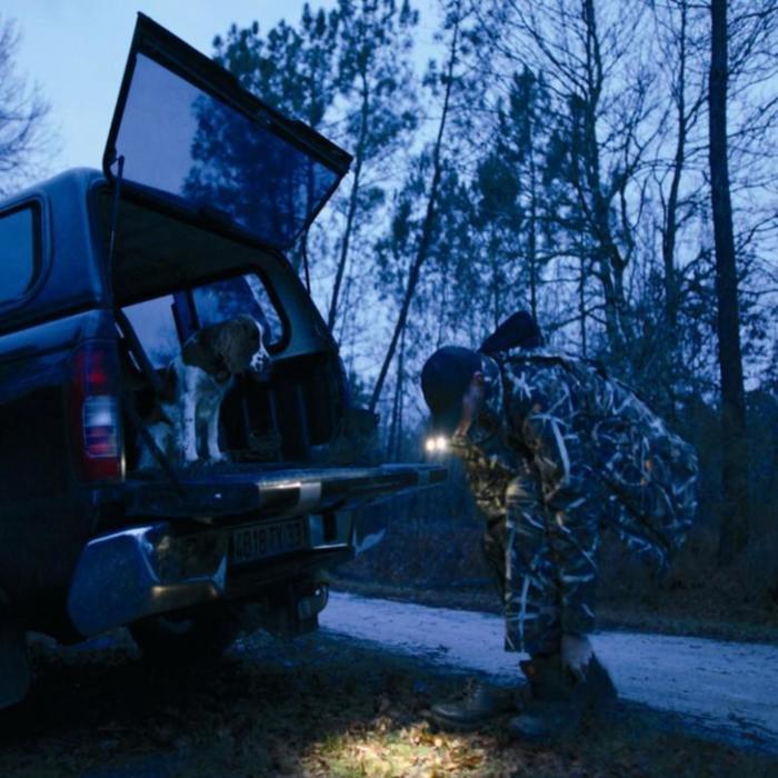 GORRA con luz de caza MARRÓN