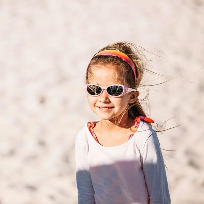 Lunettes de soleil randonnée enfant 2-4 ans KID 300 W fleurs roses catégorie 4 - 792547