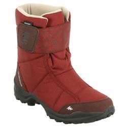 SH300 女性保暖防水雪地健行運動靴 - 紅色