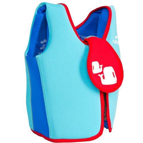 Gilet de natation enfant mousse bleu rouge