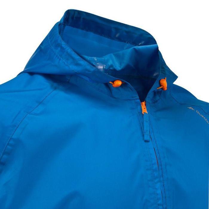 Regenjacke Naturwandern NH100 Raincut Herren blau