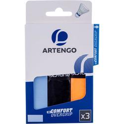 Comfort 羽毛球運動握把布 3入裝 - 藍色/黑色/橘色