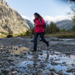 Wanderjacke Naturwandern NH100 Damen rosa