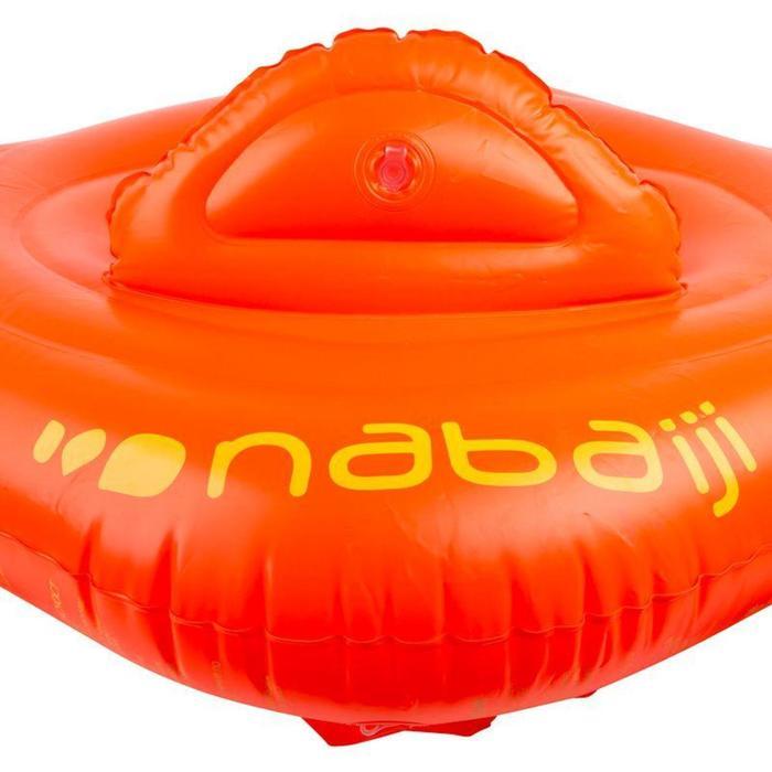 Flotador Asiento Bebé Natación Nabaiji Naranja Respaldo 11-15kg
