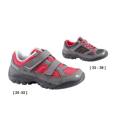 Arpenaz 50 Children's Rip-Tab Hiking Shoes pink