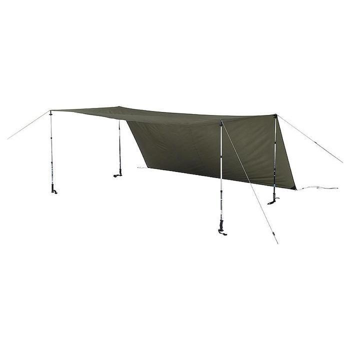 Tarp voor kamperen / trekking Arpenaz kaki