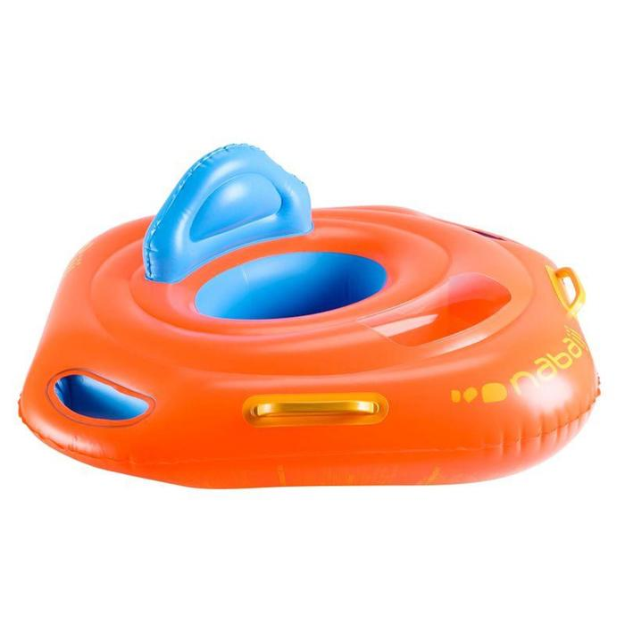 Baby seat swimring with window and handles, for kids from 11 to 15kg orange