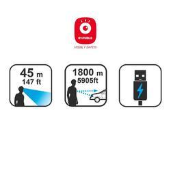 Fietslamp VIOO 700 USB zwart - 794936