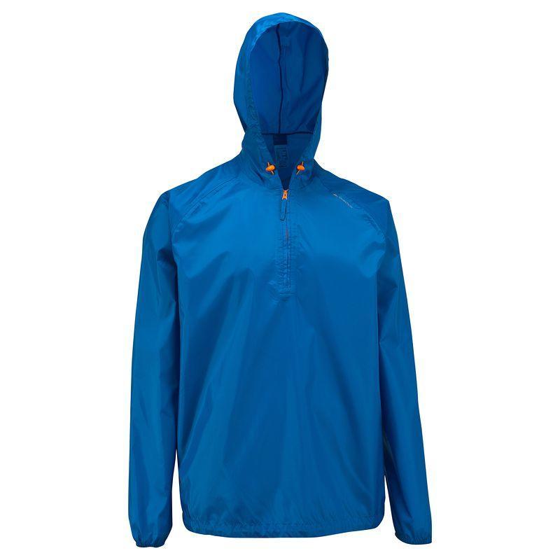 Men's waterproof NH100 Raincut Zip country walking rain jacket - Blue