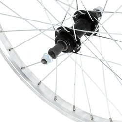 """Roda traseira 20"""" bicicleta criança, parede simples, roda livre prateado"""