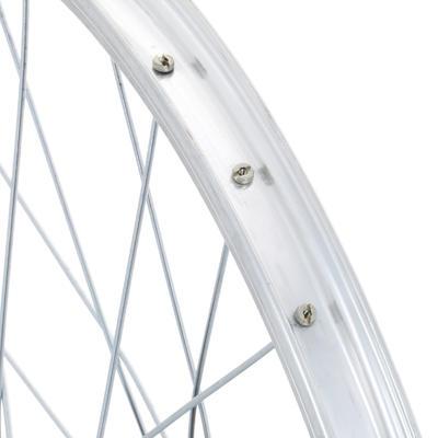 "Rueda Bicicleta Niño 20"" Trasera V-Brake Piñón Libre Pared Simple Plateada"