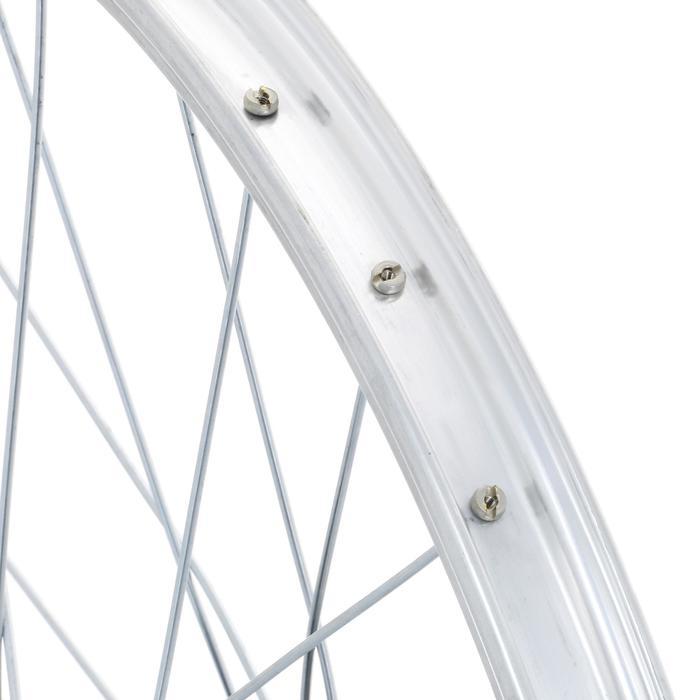 """Achterwiel voor kinderfiets 20"""" enkelwandig met freewheel zilver"""