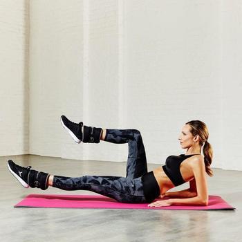 Brassière fitness cardio femme gris chiné Shape - 795110
