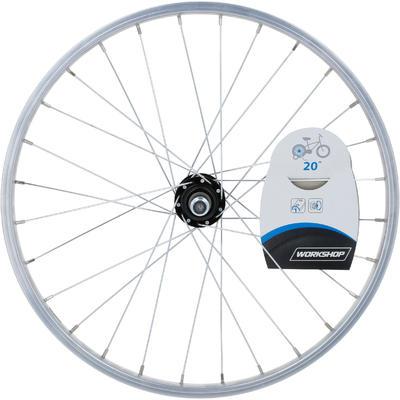Roue vélo enfant 20 pouces arrière simple paroi roue libre argent