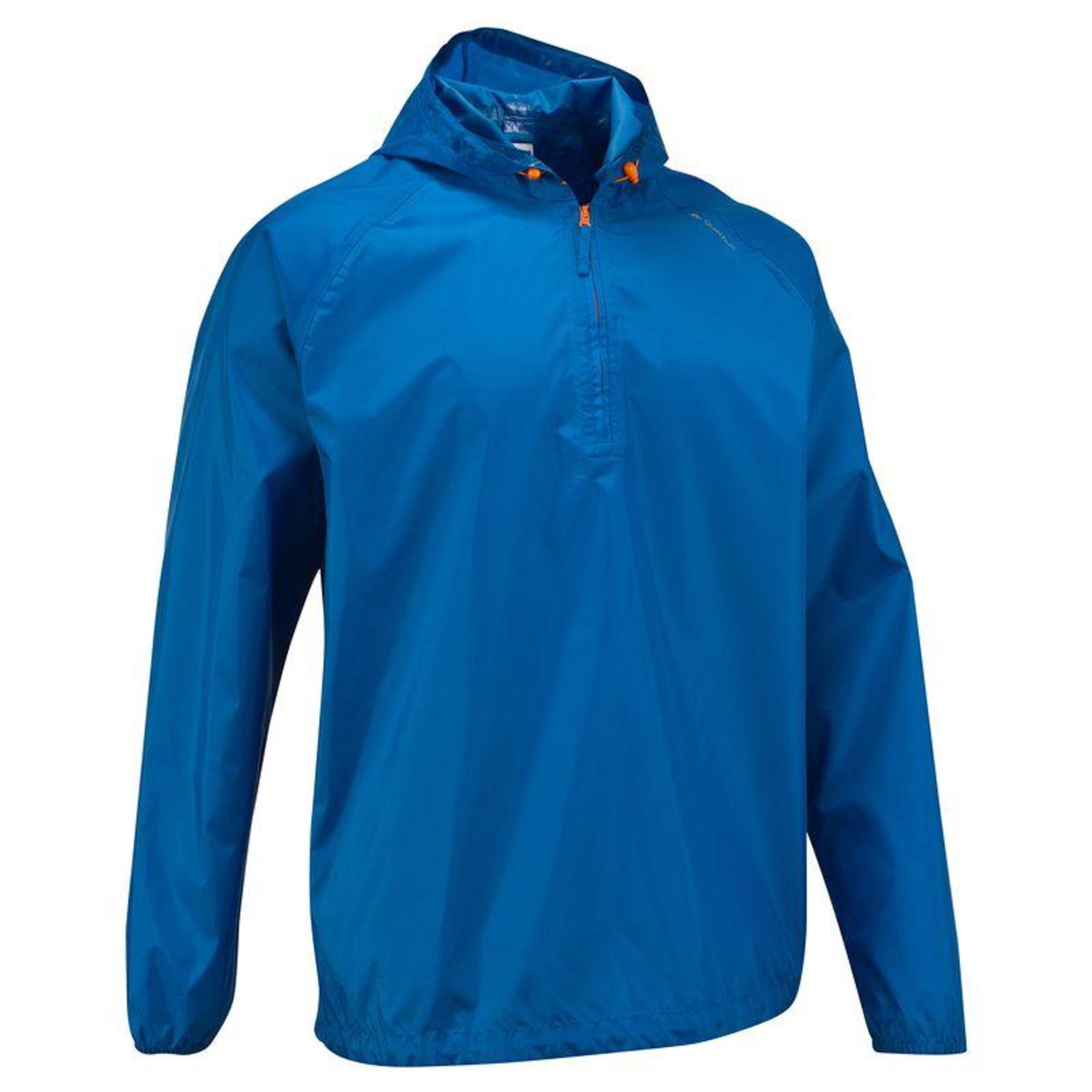 Rain-Cut Men's Hiking Waterproof Rain Jacket - Blue   Quechua