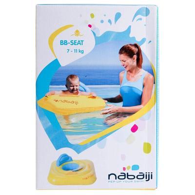 Flotador asiento para bebé, amarillo con ventana y agarraderas, niños de 7-11kg