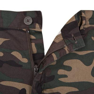 Pantalón de caza Steppe 300 Woodland verde
