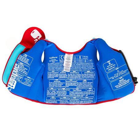 Gilet de natation mousse bleu-rouge