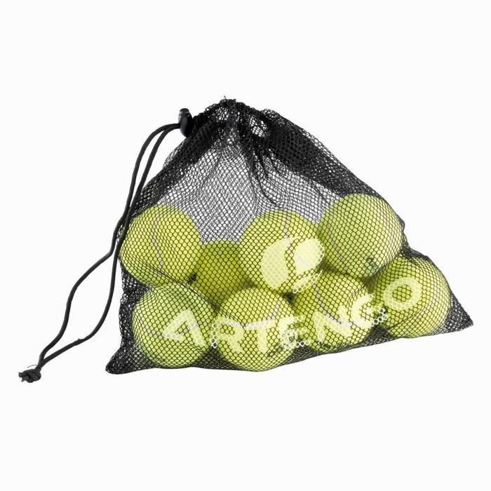 Ballnetz für 10 Tennisbälle schwarz
