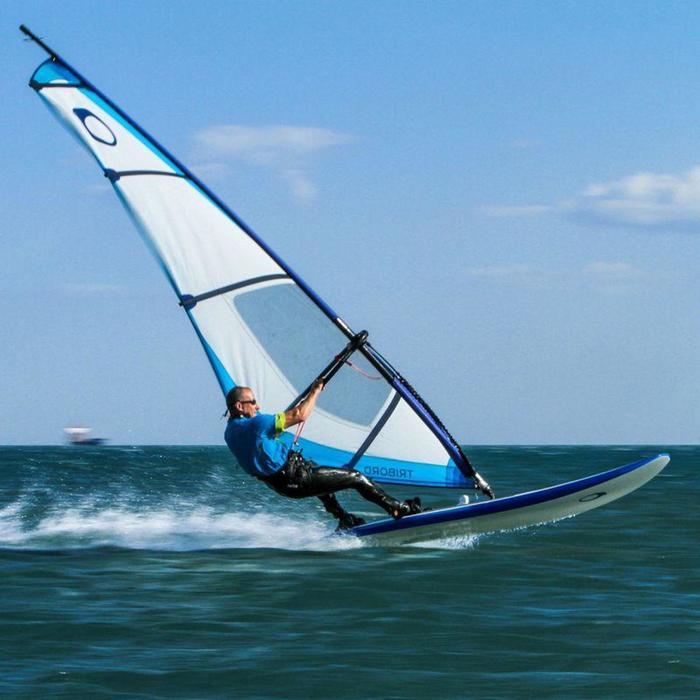 Tabla de windsurf rígida 170L con orza y footstraps