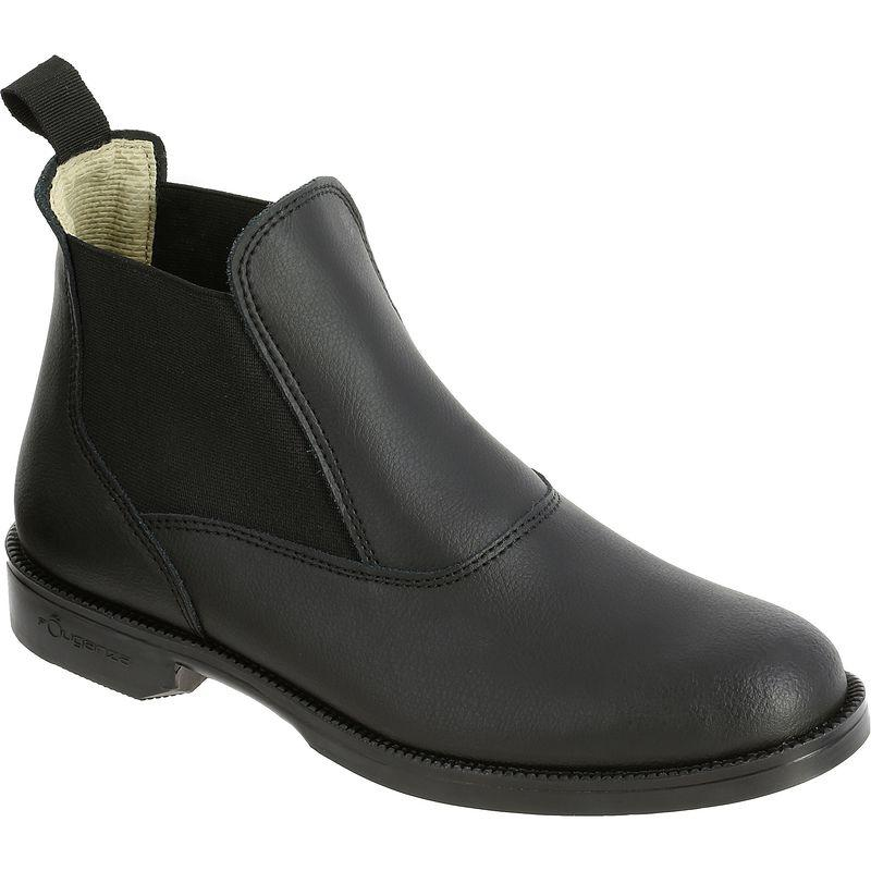 Adult/Kids' Horse Riding Leather Jodhpur Boots Classic - Black