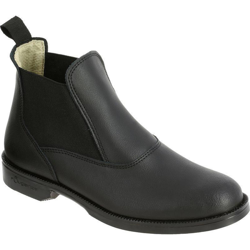 Reitstiefeletten Classic Leder Kinder/Erwachsene schwarz | Schuhe > Sportschuhe > Reitstiefel | Fouganza