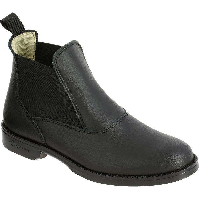 ADULT RIDING BOOTS/HC Horse Riding - CLASSIC Black Leather Boots FOUGANZA - Horse Riding