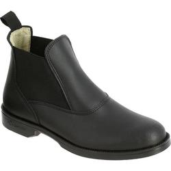 Classic Adult / Kids' Horse Riding Leather Jodhpur Boots - Black