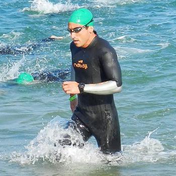 Neopreen wetsuit voor zwemmen in open water OWS550 4/3mm heren