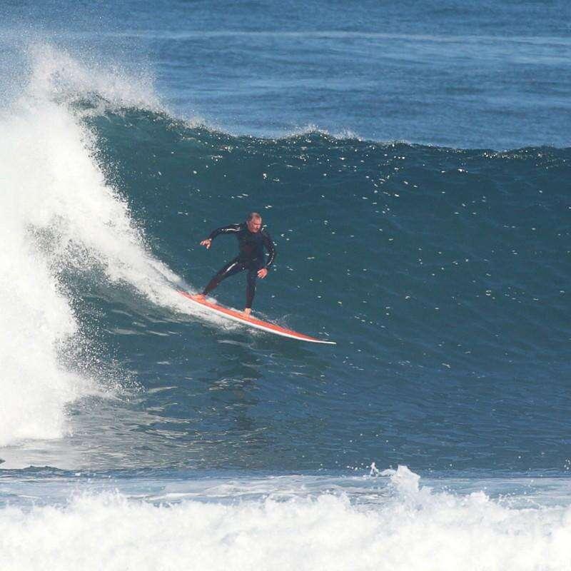 Classe réservée pour FIRST Vattensport och Strandsport - Longboard 500 9 med FCS-fenor OLAIAN - Surfing