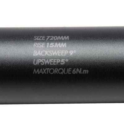Raised Oversize 31.8 mm x 720 mm Handlebar