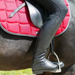Leren rijlaarzen Riding voor volwassenen - 797693