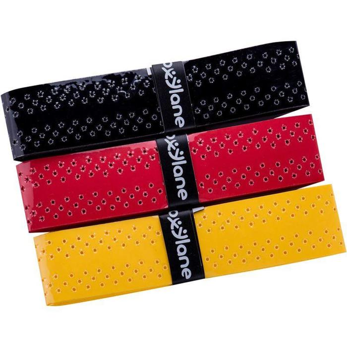 Quick Dry Badminton Overgrip Tri-Pack - Black/Red/Yellow - 797747
