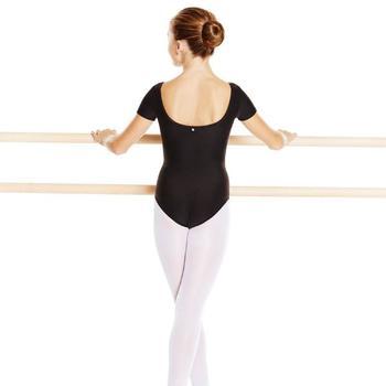 Justaucorps de danse classique manches courtes noir fille - 798013