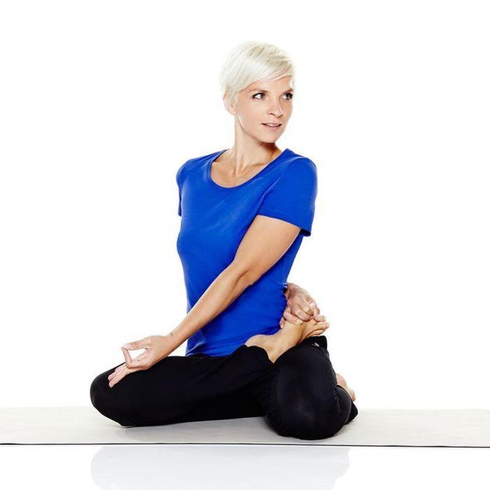 Tee-shirt en coton biologique gym douce, yoga, pilates femme - 798068