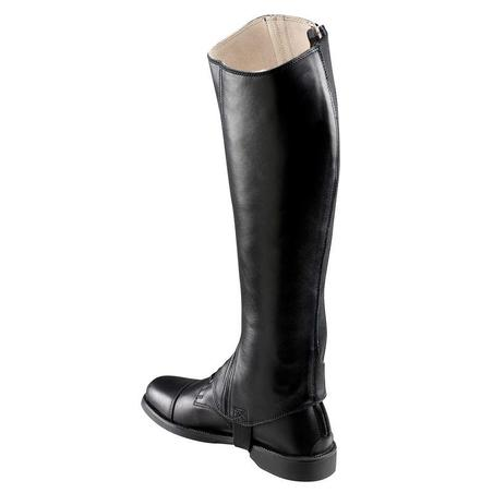 Paddock 700 Adult Horse Riding Leather Half Chaps - Black