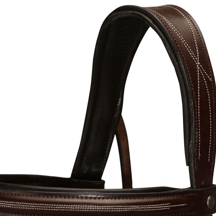 Filet + rênes équitation cheval et poney TINCKLE marron - 798501