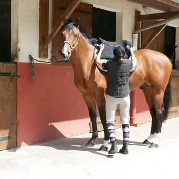 Boots équitation enfant et adulte SCHOOLING 100 noir - 798655