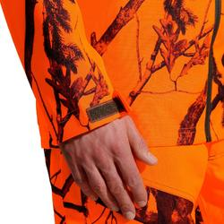VESTE TRAQUE CHASSE IMPERMEABLE SUPERTRACK 100 FLUO