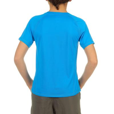 T-Shirt de randonnée garçon Hike 100 bleu