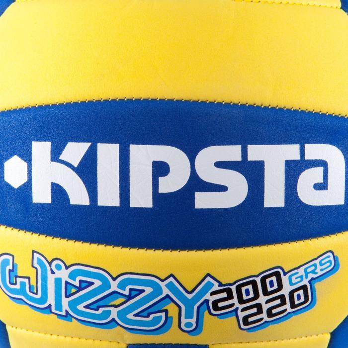 Volleybal Wizzy 200-220 g geel/blauw voor 6 tot 9 jaar