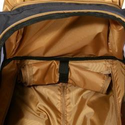 Trolleytas ruitersportmateriaal gemêleerd grijs/camel 80 liter - 799240