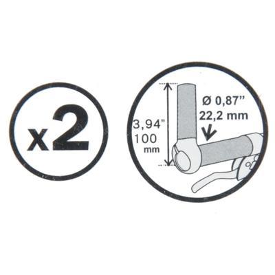 Ріжки для керма 100 мм - Чорні
