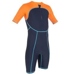 COMBINAISON SHORTY NATATION GARCON SHORTY SWIM BOY BLEU ORANGE